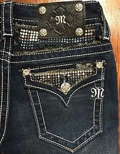 Miss Me sIGNATURE  Rise Straight Jeans Size 25 JP5589TV