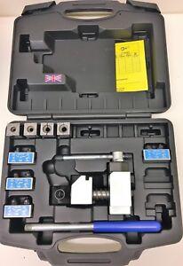 Professional Flaring Tool Brake Pipe Tube Flare Kit 4 Dies Fuel line 3/16 - 3/8