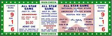 1 1961 ALL-STAR GAME VINTAGE UNUSED FULL TICKET BASEBALL reproduction laminated!