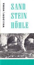 tour. Broschüre, Walldorf Werra, Sandsteinhöhle, 1980