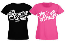 Junggesellinnenabschied T-Shirt Security Braut Junggesellenabschied Shirt Damen