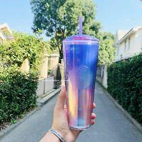 New Starbucks 2020 China Aurora Colorful Dome Unicorn 24oz Plastic Cup Tumbler