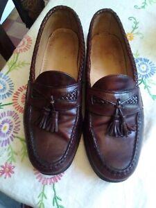 Vintage Allen Edmonds Oxblood tassled Loafers, penny loafers, Northern soul, ska
