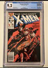 UNCANNY X-MEN #212 CGC 9.2 NM WP Wolverine vs Sabertooth Newsstand Marvel