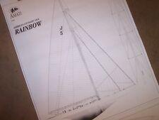 americas cup  1934  yacht  RAINBOW model plans