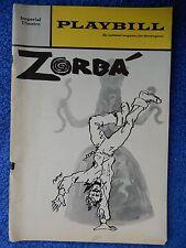 Zorba - Imperial Theatre Playbill - June 1969 - Herschel Bernardi - Karnilova