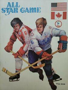 ALL STAR GAME WHA HOCKEY PROGRAM CANADIANS VS AMERICANS CLEVELAND OHIO 1975