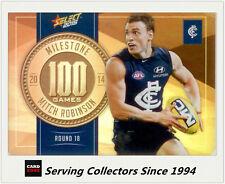2015 AFL Champions Milestone Holofoil Card MG15 Mitch Robinson (Carlton)