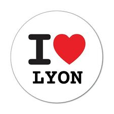 I love LYON - Autocollants - 6cm