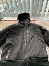 Large / 44 Mens Black Textile Waterproof Motorcycle / Motorbike Jacket