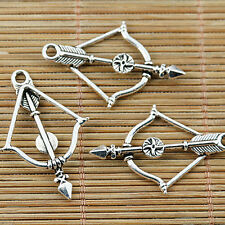8pcs antiqued bronze tone bow and arrow charms EF0830