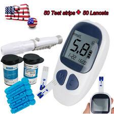 Blood Glucose Starter Kit Glucometer Sugar Meter Monitor Diabetes 50 test strips