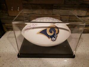 2000 Super Bowl XXXIV 34 St. Louis Rams Sam Bradford Autographed Football