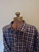 Neiman Marcus Wrinkle Free Purple Plaid Long Sleeve Button Down Shirt XXL 2XL