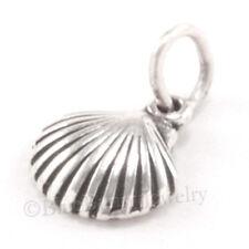 SEA SHELL Charm small 925 Sterling Silver Pendant Beach Ocean SEA LIFE tiny mini