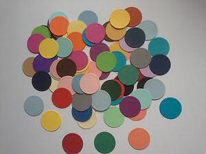 50 Die Cut Circles In Coloured Card-4.2cm