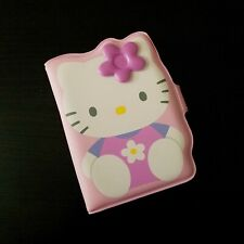 Hello Kitty Pink Flower Pocket Photo ID Business Card Holder - Sanrio - 2002 NEW