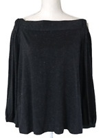 NWT ANN TAYLOR LOFT Off The Shoulder Gray Long Sleeve Sweater Women's Size L