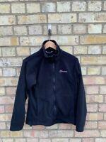 Berghaus Womens Black Full Zip High Neck Fleece Size 12