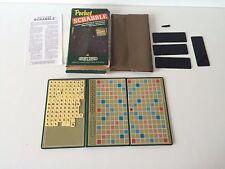 Vintage Pocket Scrabble Game Summer Travel Fun 1981