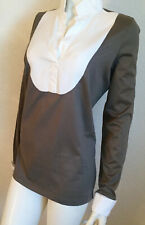 Exklusiv!!! Umwerfende Neuwertige Van Laack Bluse Blusenshirt Gr 42 Grau Weiß
