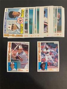 1984 Topps Nestle 792 Baltimore Orioles Team Set 31 Cards
