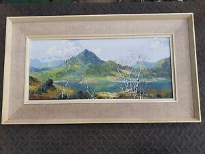 Charles Wyatt Warren Oil Painting On Board Moel Hebog from Llyn Y Gader