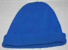 Winter Hand Knit Beanie Hat Dark Blue Adult Youth Unisex One Size Mens Womens