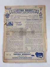 Leyton Orient v Sheffield Wednesday 1958-59 (Div 2)