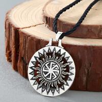 Slavic Amulet Pagan Solar Symbol Slavic Wheel Nordic Amulet Viking Men Necklace