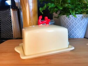 Cute Anchor Butter Dish Vintage Retro Collectible Ceramic Nautical Kitchenware
