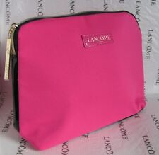 NEW LANCOME PARIS COSMETIC MAKE-UP BAG CASE ORGANIZER PINK / BLACK Fabric NEW