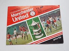 Vintage 1978 Manchester United VS West Brom FA Cup Programme