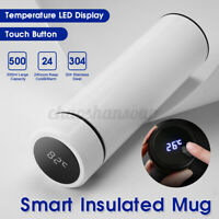 500ML Vacuum Cup Smart Insulated Mug LED Display Stainless Steel Temperature USA