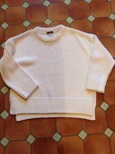 Bnwot ZARA White thick knit chunky long sleeve Jumper size medium approx 18/20