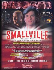 SMALLVILLE SEASON 5 2006 INKWORKS PROMO PROMOTIONAL SALE SELL SHEET