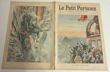 Le petit parisien 857 1905 Accident train chemin de fer gravure fête du soleil