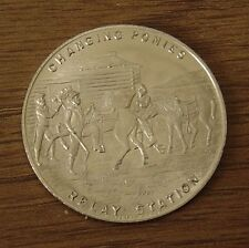 1860 - 1935 OREGON TRAIL MEMORIAL ASSN PONY EXPRESS DIAMOND JUBILEE MEDAL