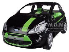FORD KA BLACK/GREEN 1/24 DIECAST MODEL CAR BY MOTORMAX 73382