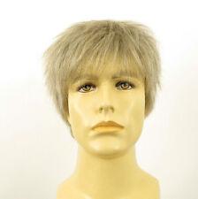 Perruque homme 100% cheveux naturel blanc méché gris ref JACQUES 51