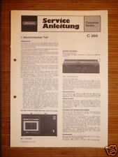 Service Manual Grundig C 260 Cassette Recorder,ORIGINAL