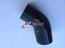 "Silicone 45 degree Elbow 76mm 3"" inch Turbo Intercooler hose Black"
