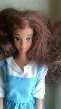 Mattel Barbie Doll Auburn Hair Brown Eyes with clothes Made In China Used