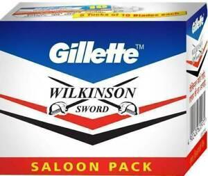 GILLETTE Wilkinson Sword Double Edge Safety Shaving Razor Blades - 100 Count.