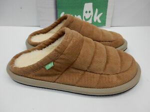 Sanuk Mens Slipper Puff N Chill Low Cord Tan Size 9