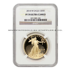2014-W $50 Eagle NGC PF70UCAM Ultra Cameo American Gold Proof 1oz coin