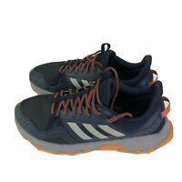 Adidas Rockadia Trail Mens Size 10 Blue Leather & Textile Athletic Hiking
