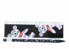 New 2 item musical stationary pack musical design mechanical pencil & bear ruler