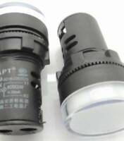 INDICATORE LUMINOSO LED VERDE 24V CC//CA FORO 16mm