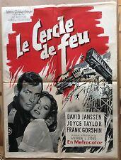 """AFFICHE CINEMA : """"Le cercle de feu"""" 1961 avec David Janssen"""